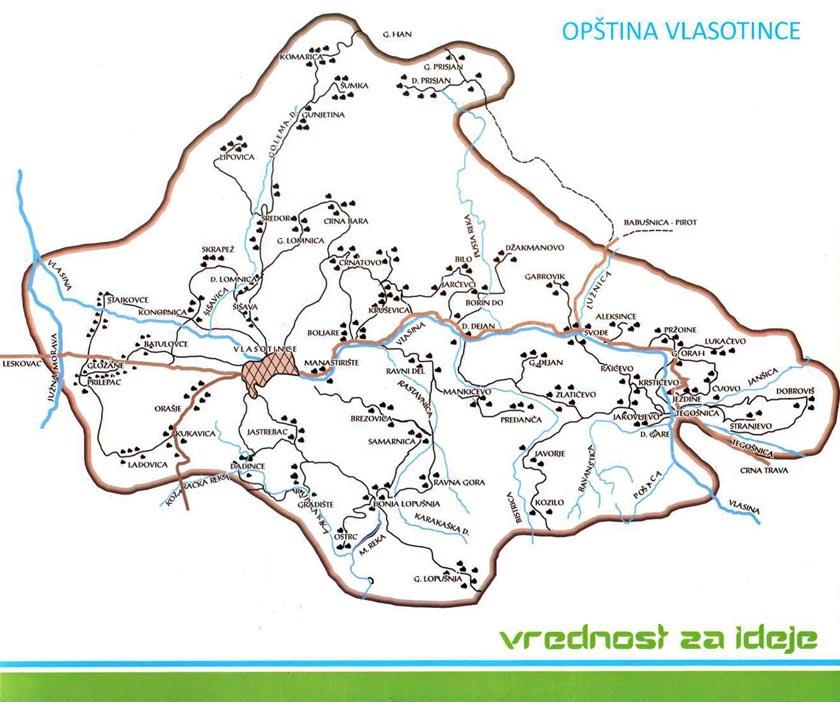 vlasotince mapa Opština Vlasotince vlasotince mapa